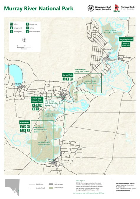 Map Of Australia Murray River.Murray River National Park Map 1 Department For Environment And