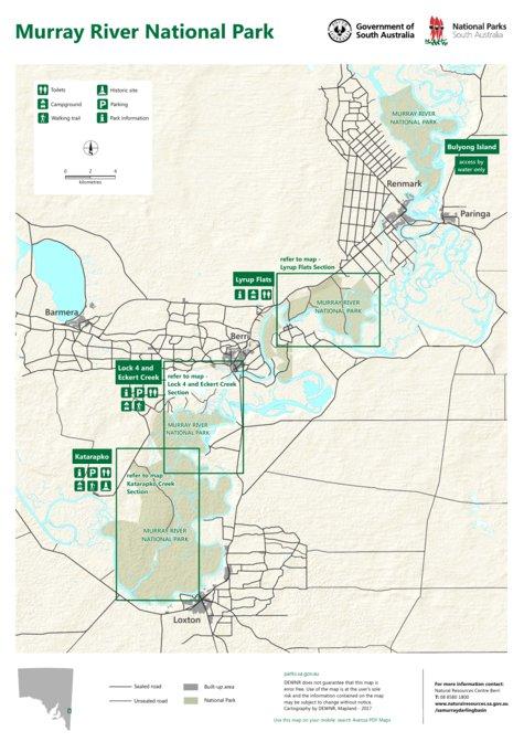 Murray River National Park Katarapko Section Map Department For
