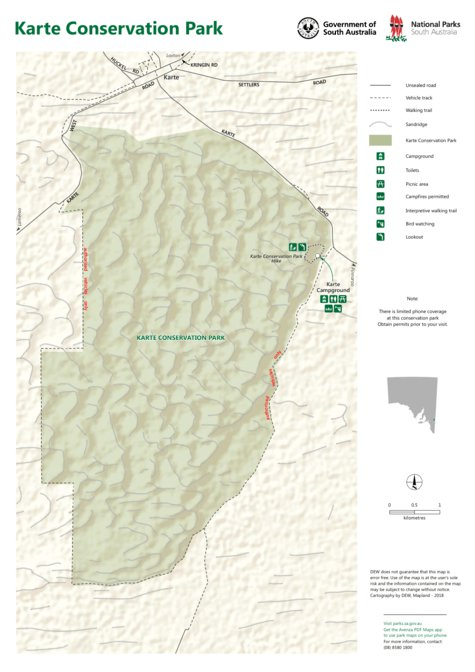 Carte Australie Cp.Karte Conservation Park Map Department For Environment And