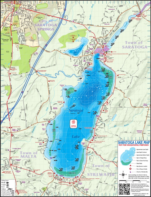 Get maps avenza maps for Saratoga lake fishing