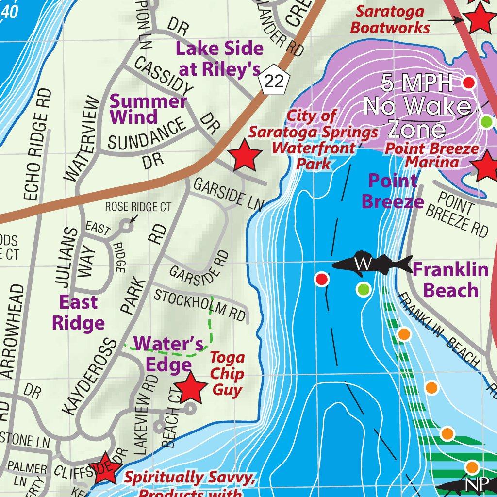 saratoga lake fishing map Saratoga Lake Jimapco Avenza Maps saratoga lake fishing map