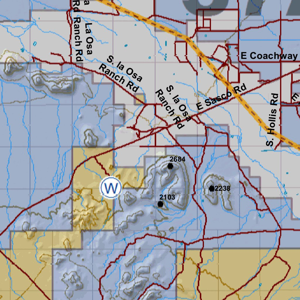 Map Of Arizona Land Ownership.Huntdata Arizona Land Ownership Unit 37a Huntdata Llc Avenza Maps