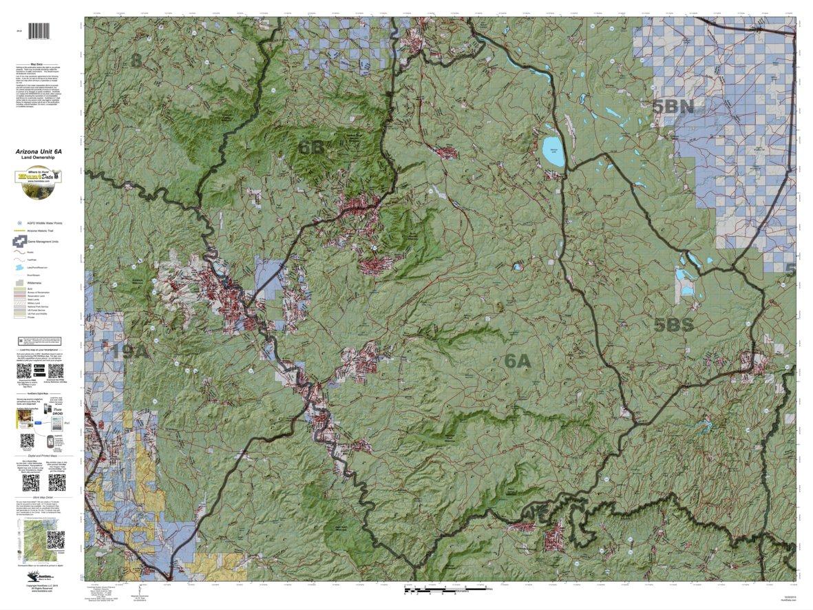 Unit 6a Arizona Map.Huntdata Arizona Land Ownership Unit 6a Huntdata Llc Avenza Maps