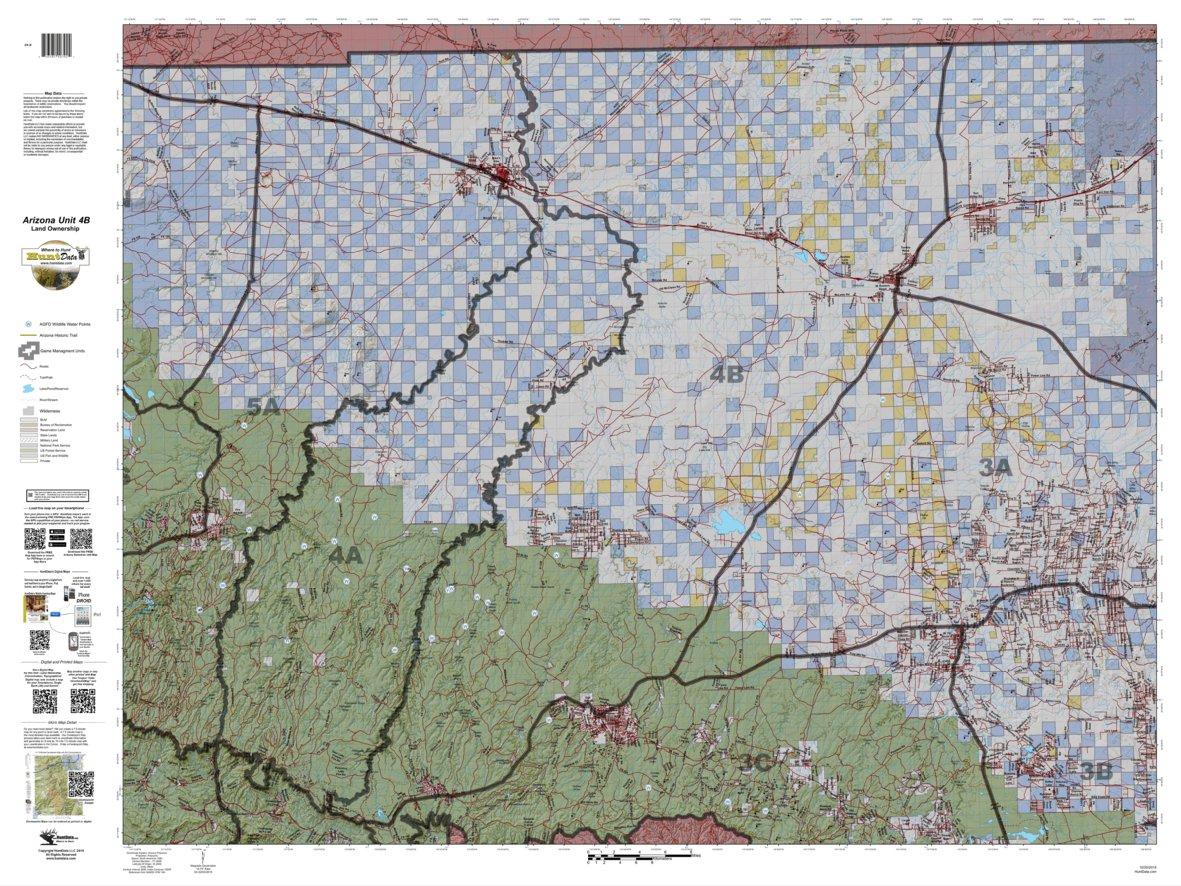 Map Of Arizona Land Ownership.Huntdata Arizona Land Ownership Unit 4b Huntdata Llc Avenza Maps