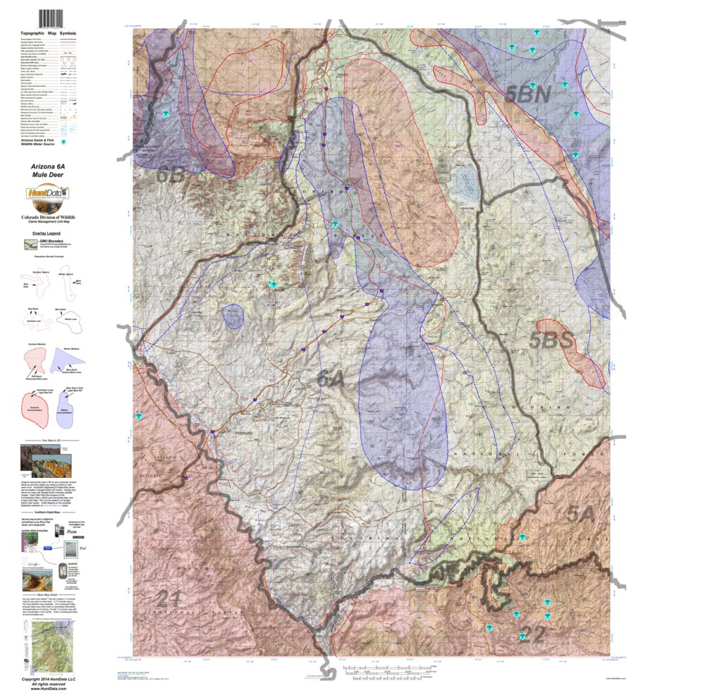 Unit 6a Arizona Map.Huntdata Arizona Mule Deer Hunt Unit 6a Game Concentration Map