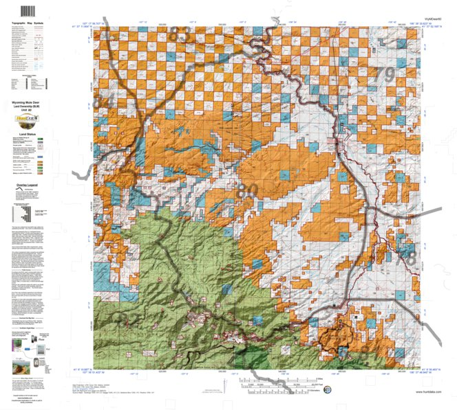 HuntData Wyoming Land Ownership Map for Mule Deer Unit 80 - HuntData ...