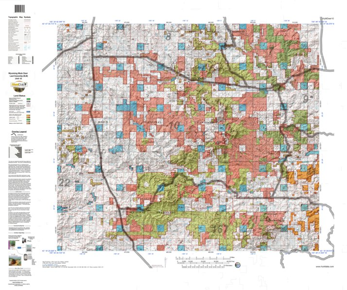 HuntData Wyoming Land Ownership Map for Mule Deer Unit 10 - HuntData ...