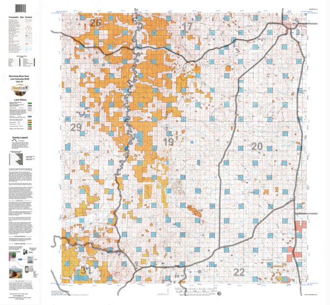 HuntData Wyoming Land Ownership Map for Mule Deer Unit 19 - HuntData ...