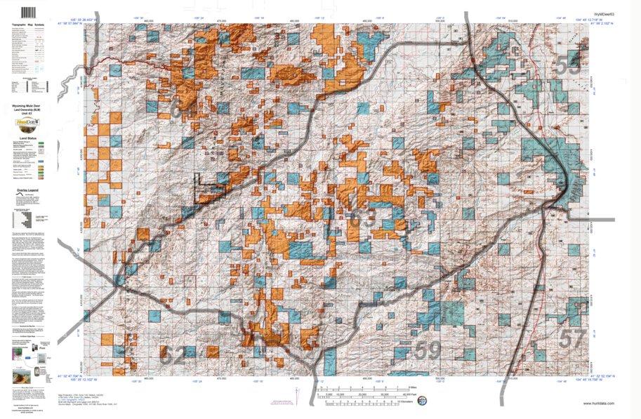 HuntData Wyoming Land Ownership Map for Mule Deer Unit 63 - HuntData ...