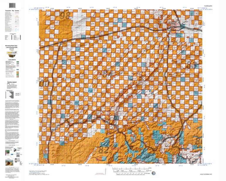 HuntData Wyoming Land Ownership Map for Mule Deer Unit 84 - HuntData ...
