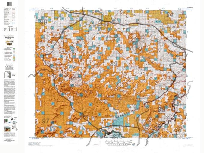 HuntData Wyoming Land Ownership Map for Mule Deer Unit 89 - HuntData ...