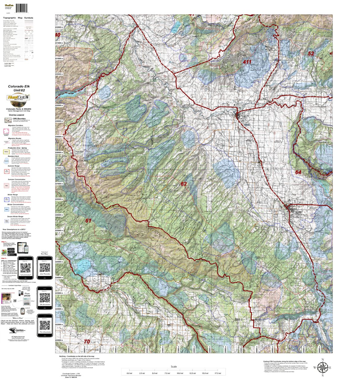HuntData Colorado Unit 62 Elk Concentration - HuntData LLC - Avenza Maps