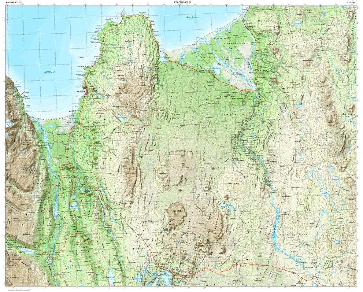 Iceland 1 100 000 Map 20 Kelduhverfi Fixlanda Ehf Avenza Maps
