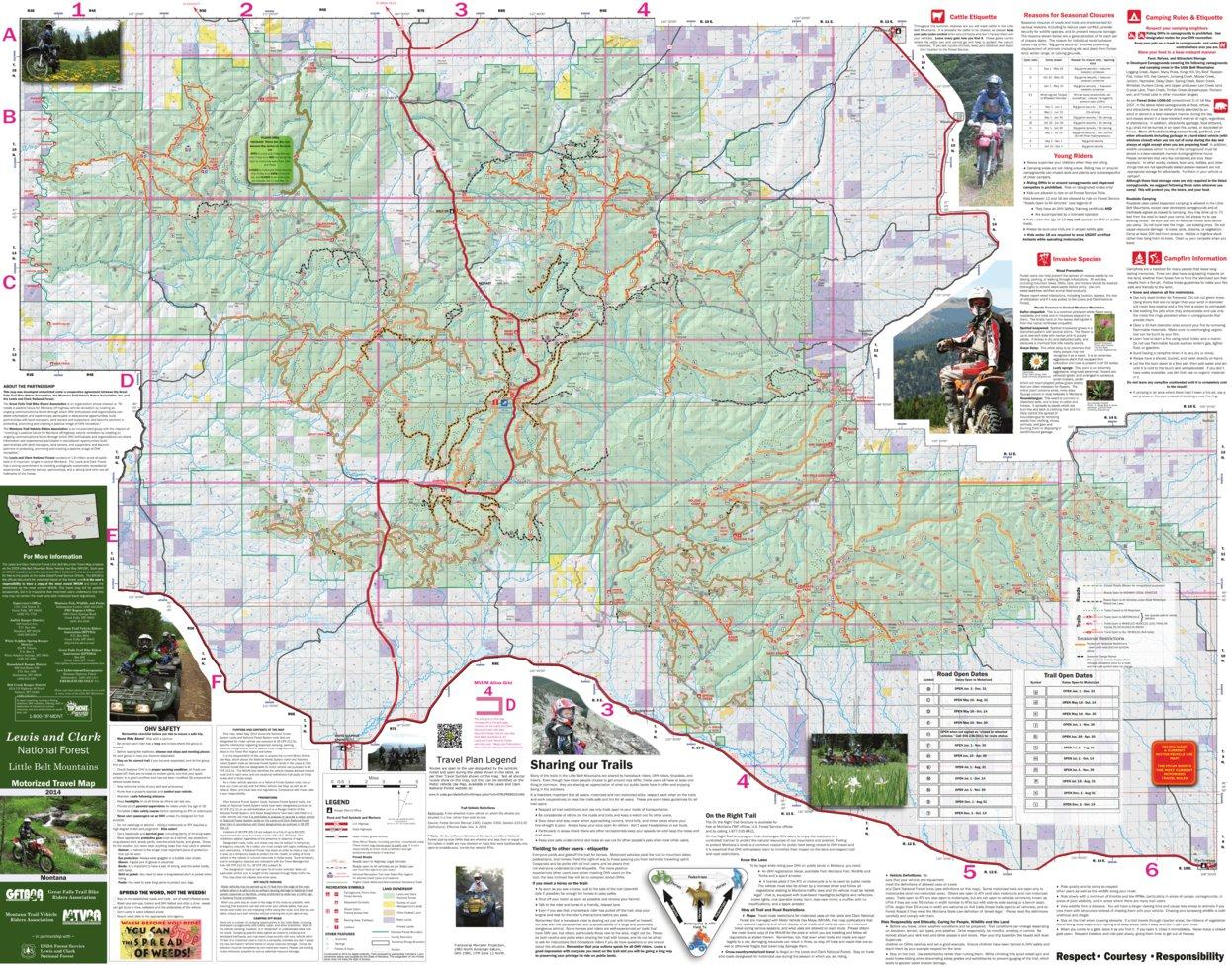 Little Belt Mountains Trail Map 2014 - TimberX - Avenza Maps