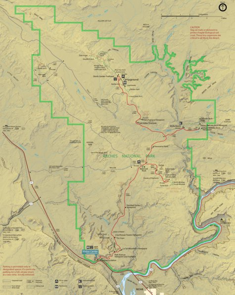 Arches National Park - AMG Maps - Avenza Maps