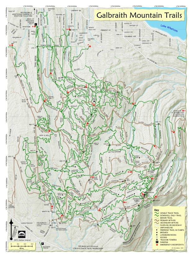 Galbraith Mountain Map Galbraith Mtn Trails Map 2018 Edition   Chris Behee   Avenza Maps Galbraith Mountain Map