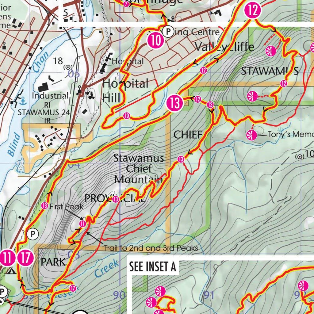 SquamishHikingMap Canadian Map Makers Avenza Maps