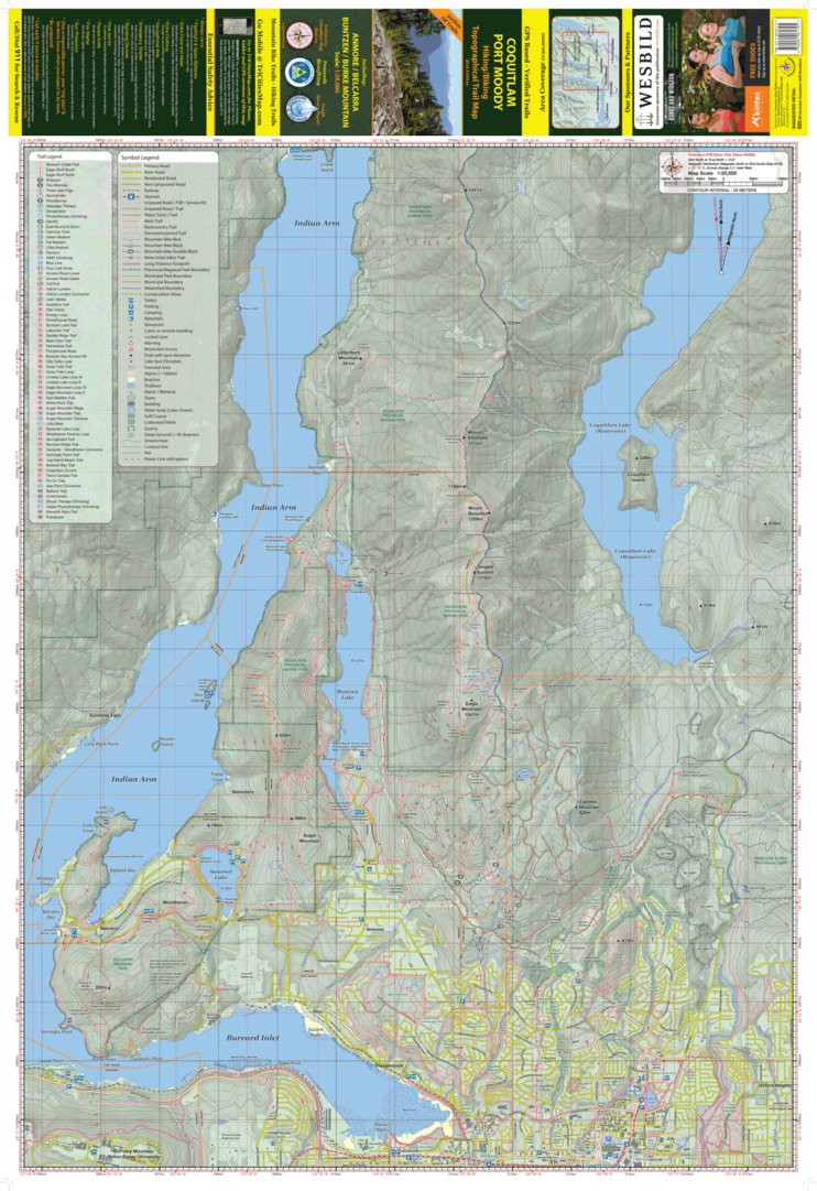 TriCities Hiking and Biking Map West Sheet Canadian Map Makers