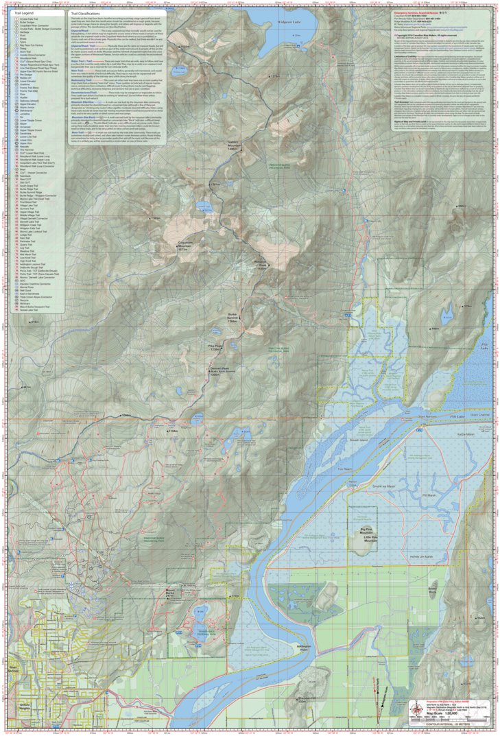TriCities Hiking and Biking Map East Sheet Canadian Map Makers