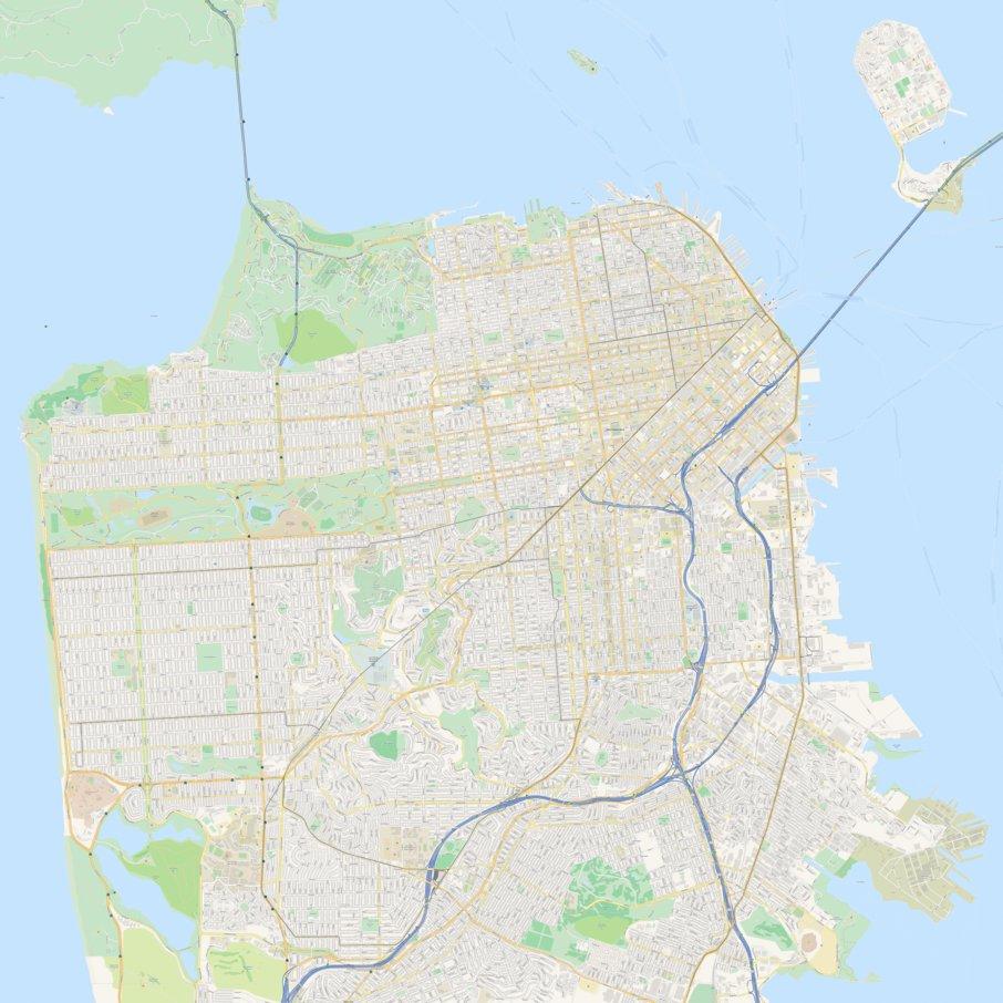 San-Francisco Street Map - Lokalen Kartographie - Avenza Maps