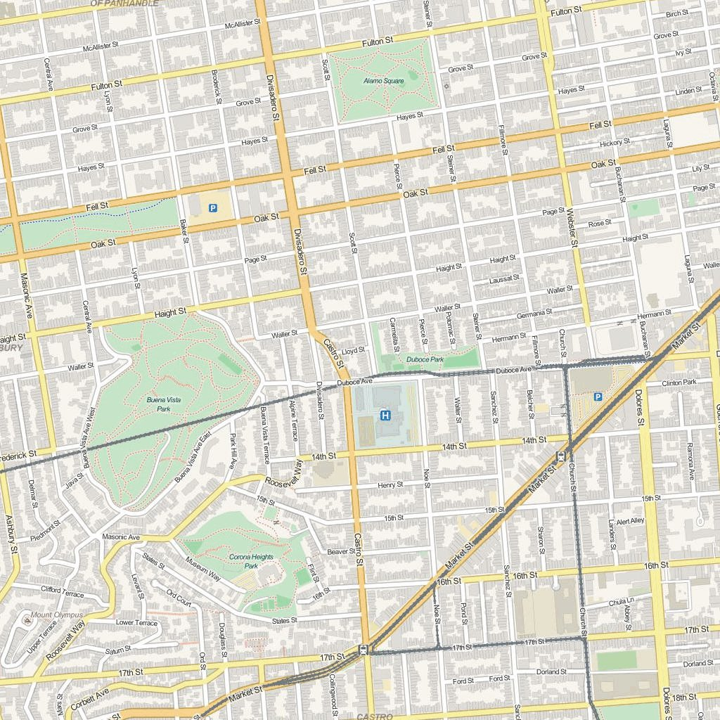 SanFrancisco Street Map Lokalen Kartographie Avenza Maps