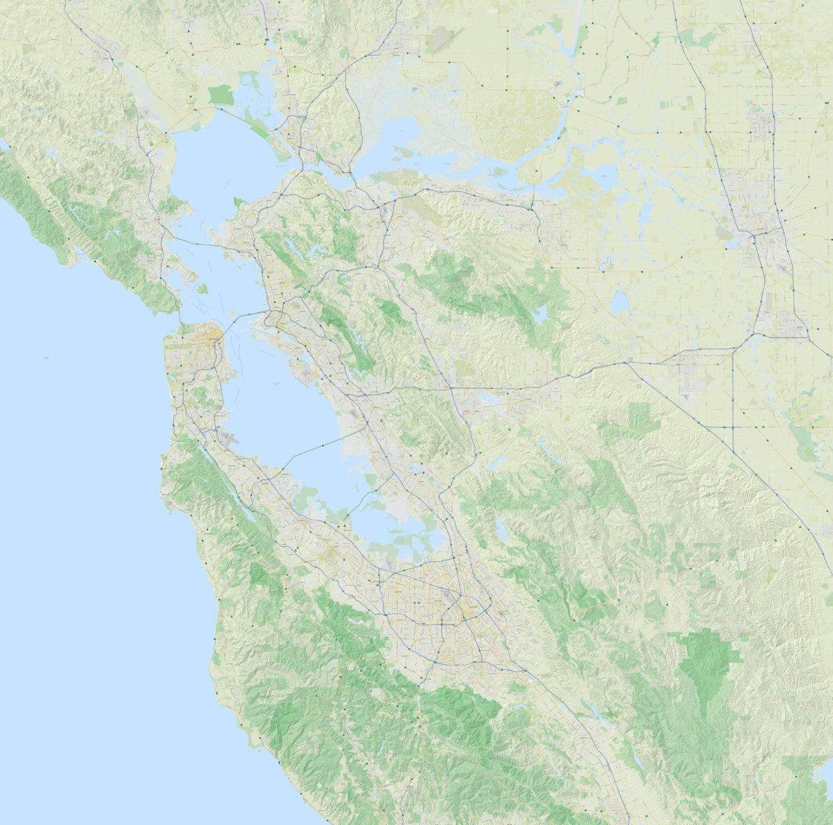 San Francisco and USA Maps Pack - Lokalen Kartographie - Avenza Maps