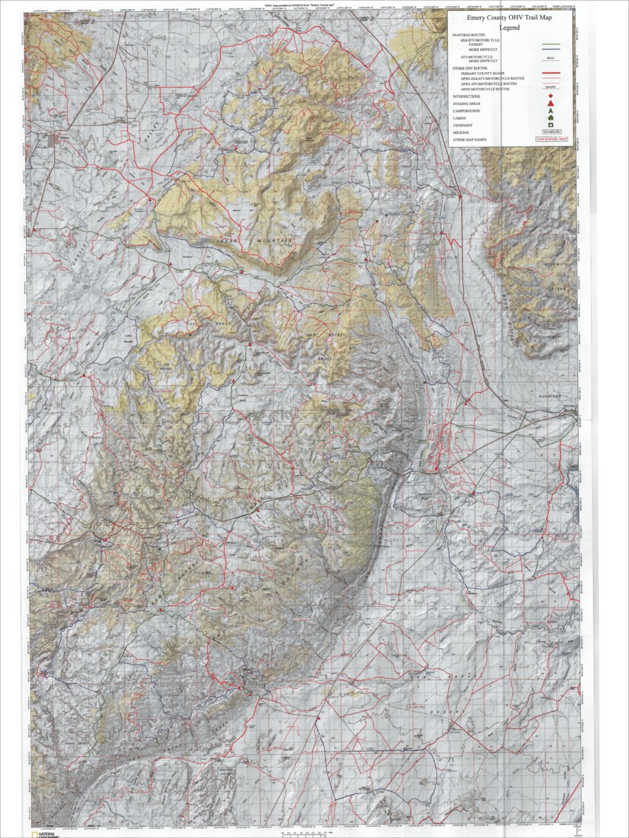 Emery County OHV Trail Map - Front
