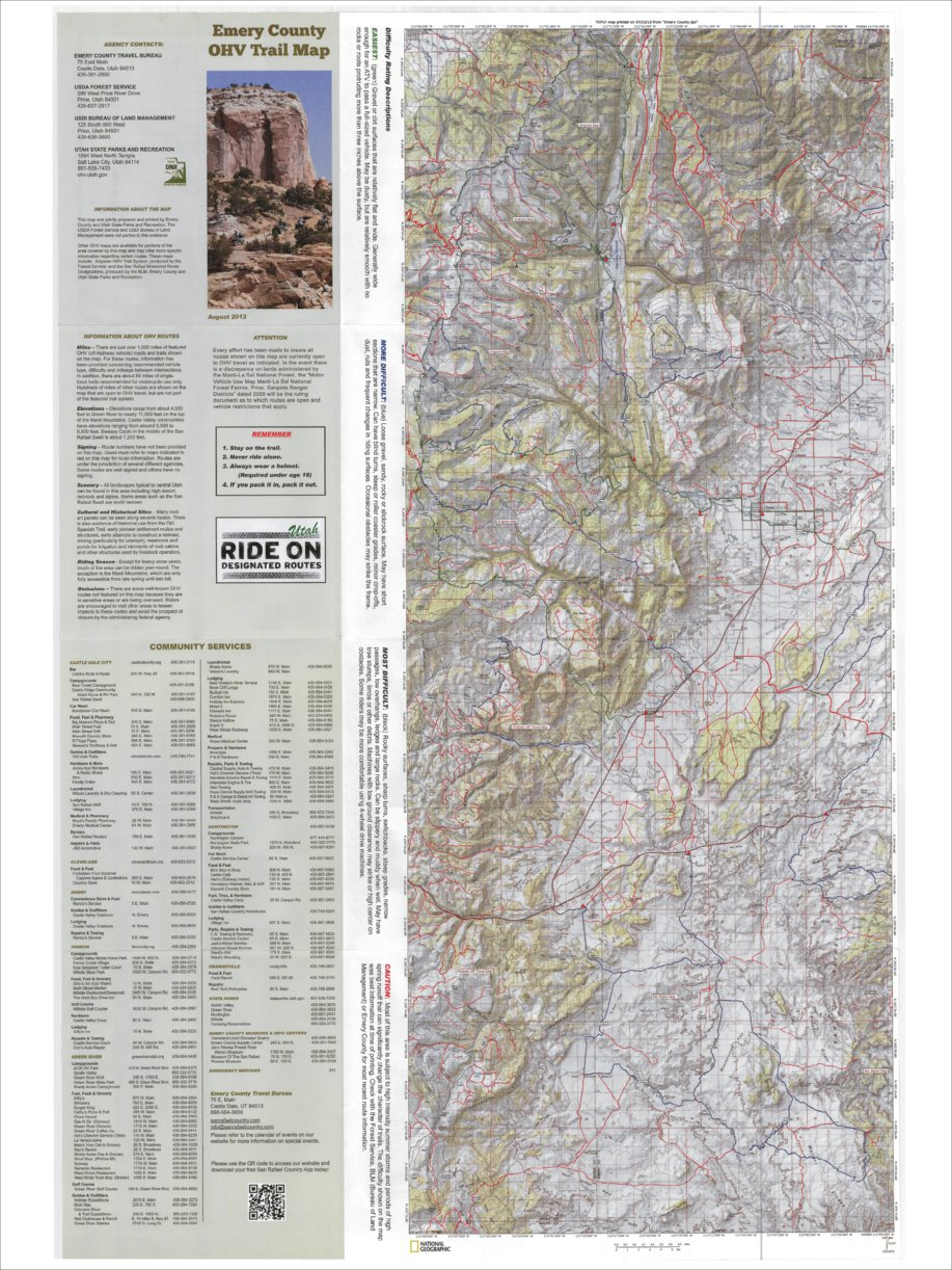 Emery County OHV Trail Map - Back