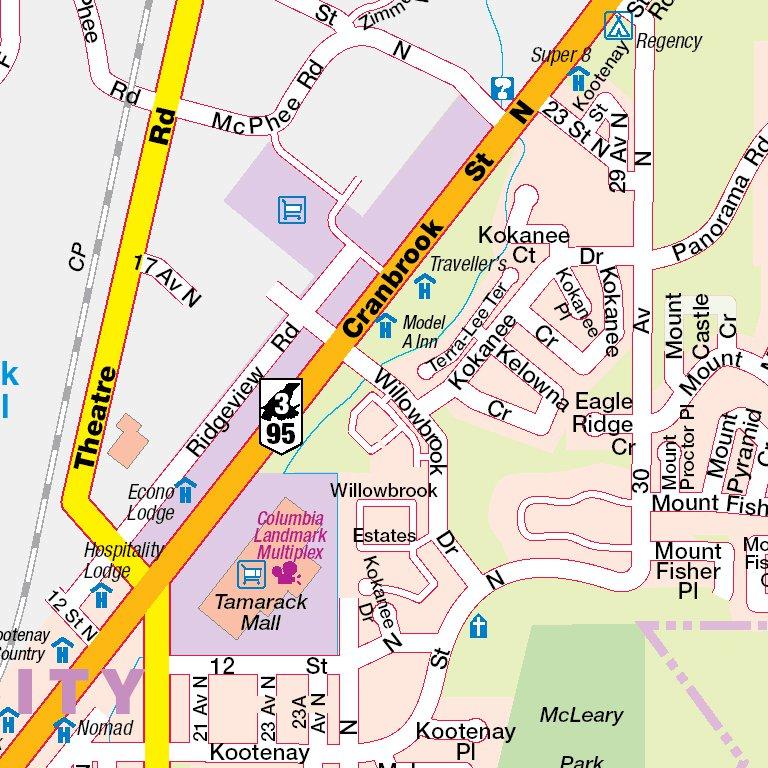 Map Of Cranbrook Bc Canada Cranbrook, BC   Mapmobility Corp.   Avenza Maps