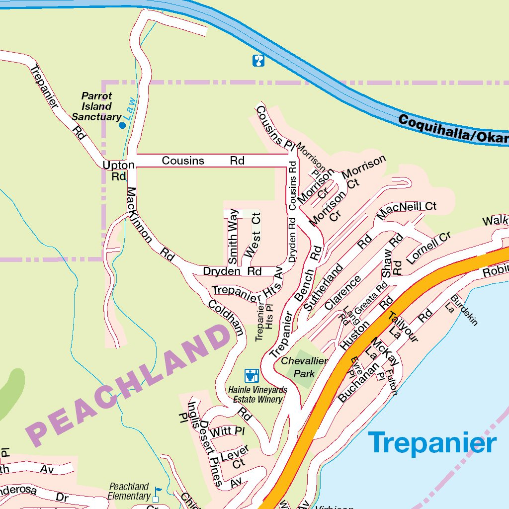 Map Of Peachland B.C Canada Peachland, BC   Mapmobility Corp.   Avenza Maps