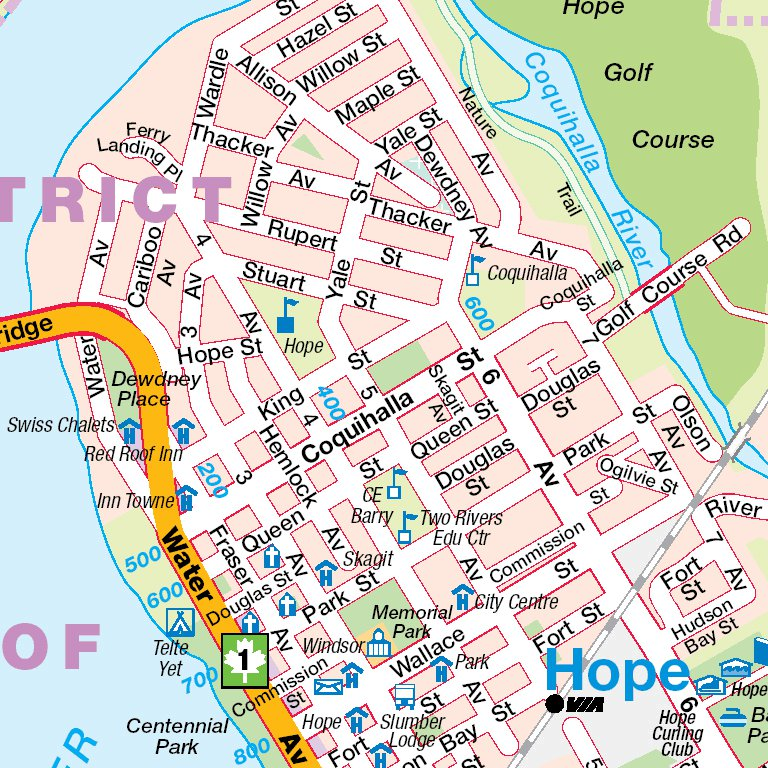 Map Of Hope Bc Canada Hope, BC   Mapmobility Corp.   Avenza Maps