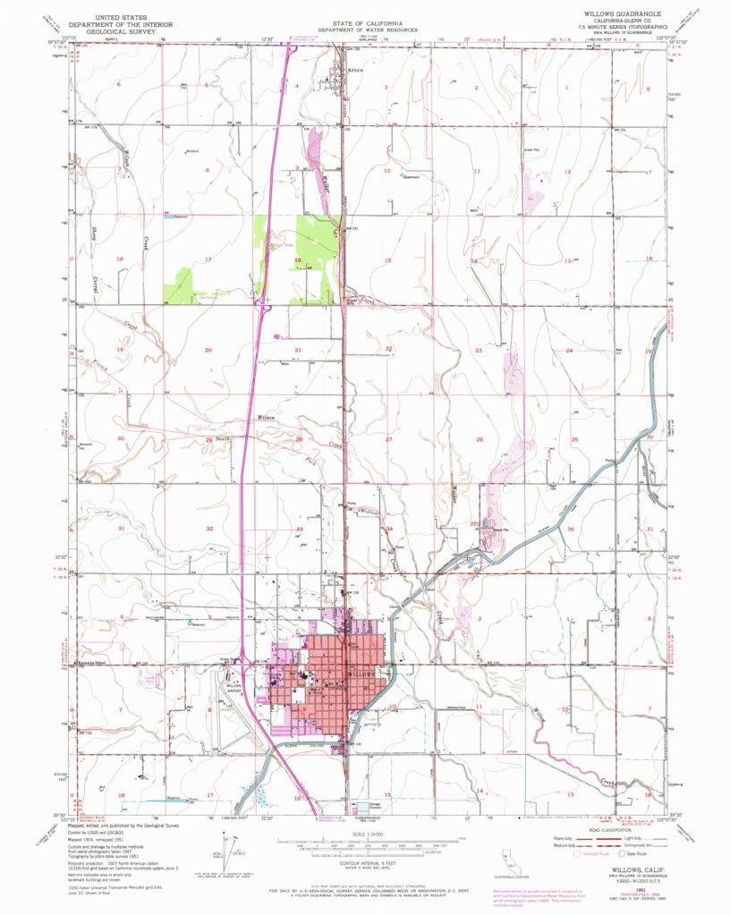 Willows Ca Historical Map Geopdf 7 5x7 5 Grid 24000 Scale