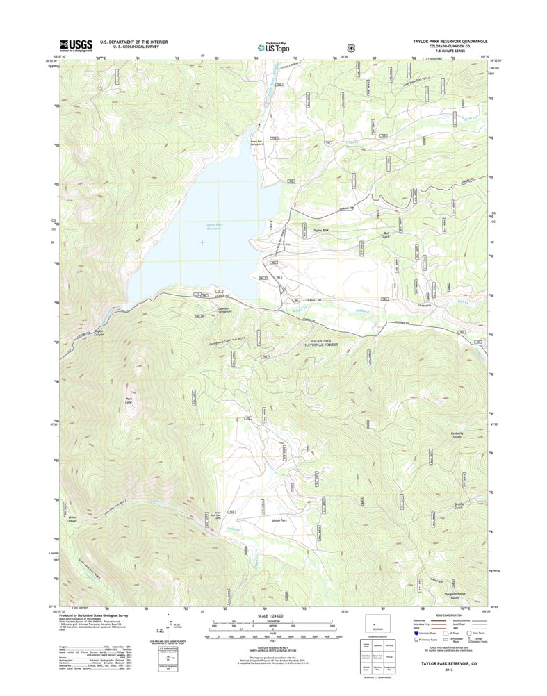 Taylor Park Colorado Map.Taylor Park Reservoir Co Tnm Geopdf 7 5x7 5 Grid 24000 Scale Tm