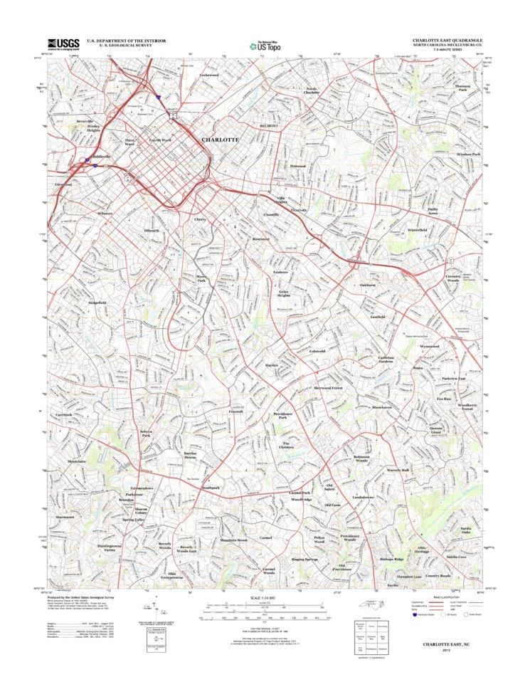 Charlotte Nc Topo Bundle United States Geological Survey Avenza Maps - Us-map-charlotte-nc