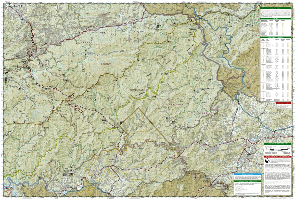 Map Of The Great Smoky Mountains National Park on