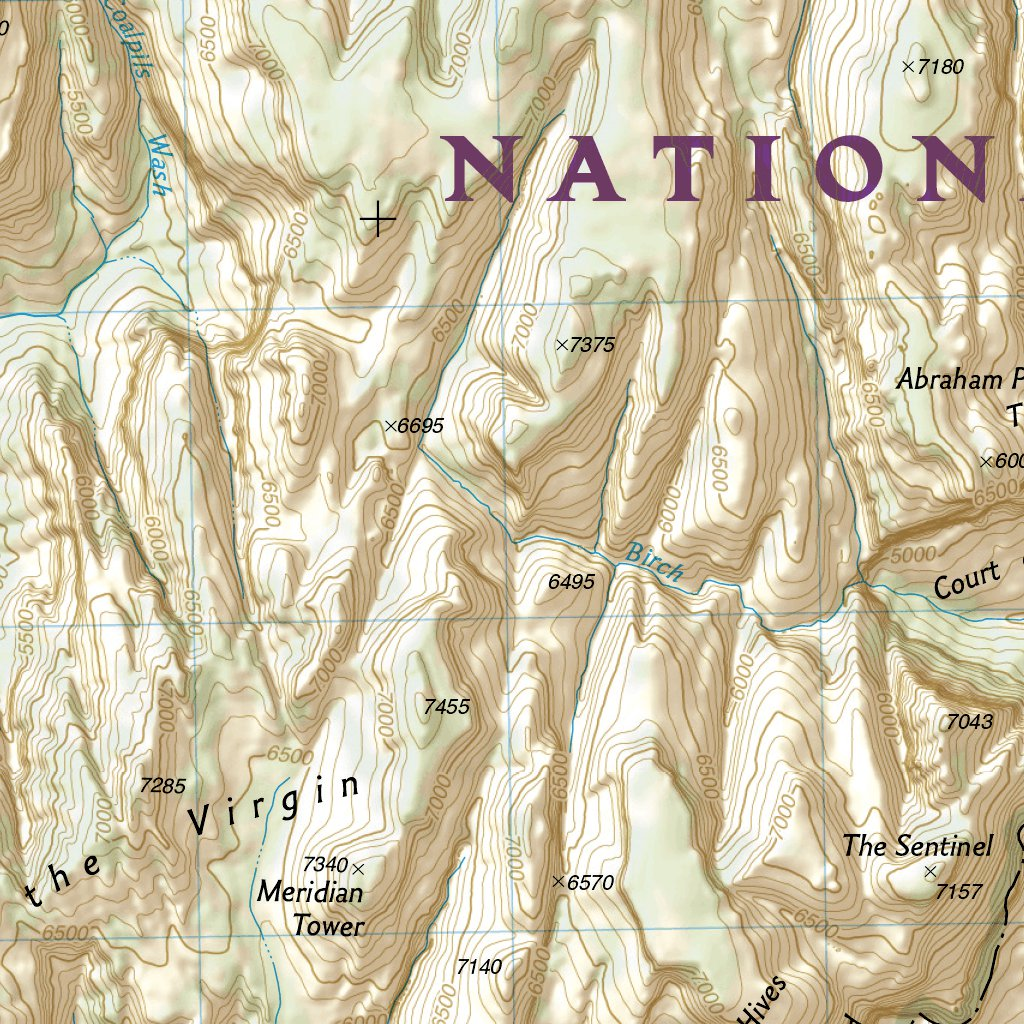 Zion National Park National Geographic Avenza Maps - Map of zion national park