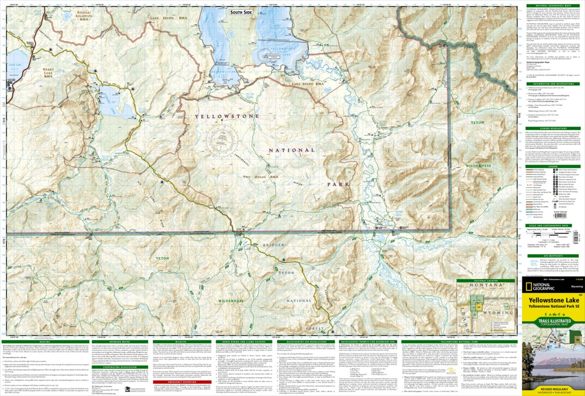 Yellowstone National Park [Map Pack Bundle] - National Geographic ...