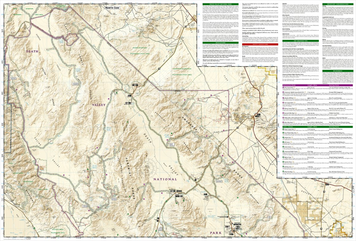 Maps NATIONAL GEOGRAPHIC TRAILS ILLUSTRATED MAP DEATH VALLEY ...
