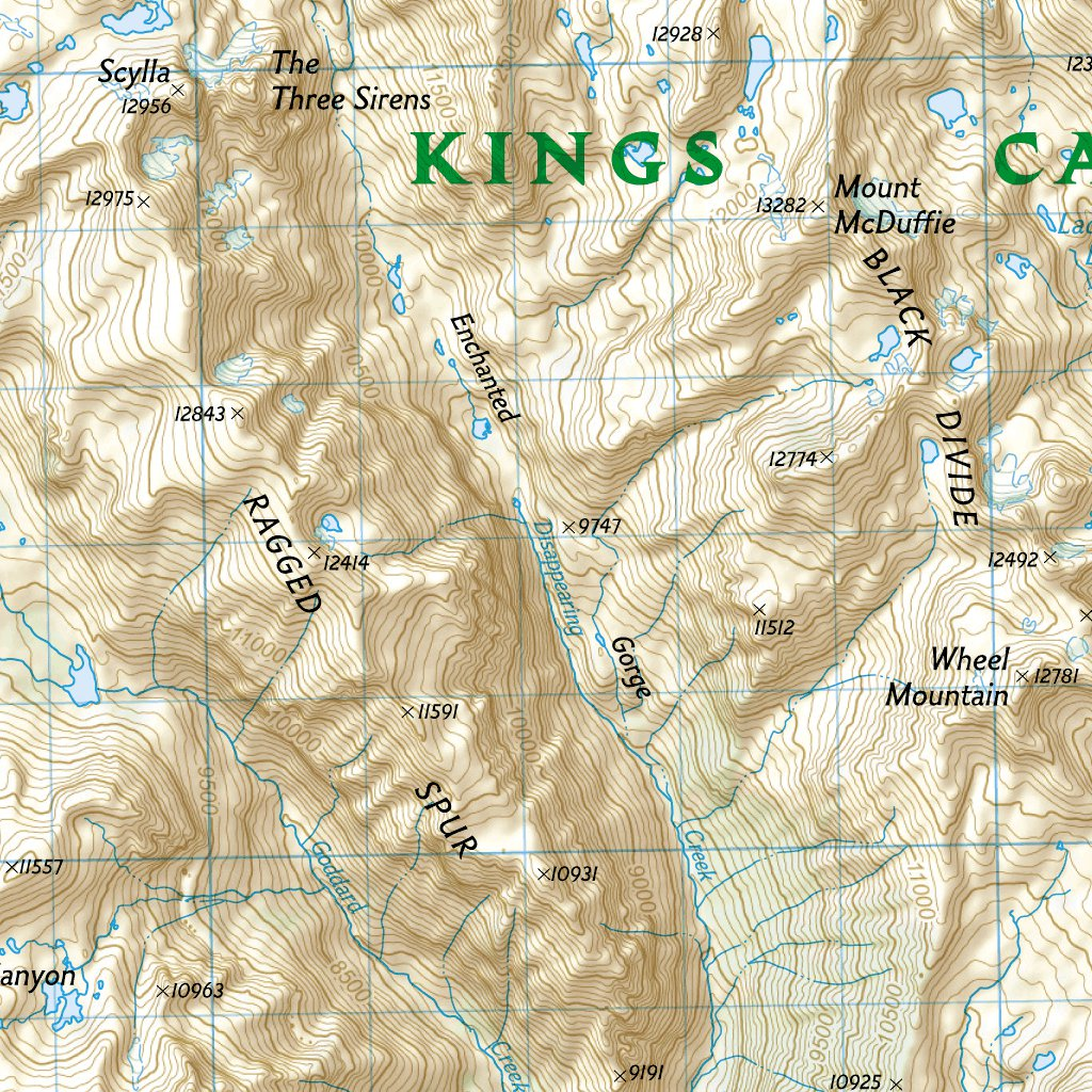 205 :: Sequoia and Kings Canyon National Parks - National ... Sequoia And Kings Canyon National Park Map on california national parks map, giant sequoia national park map, kings canyon np map,