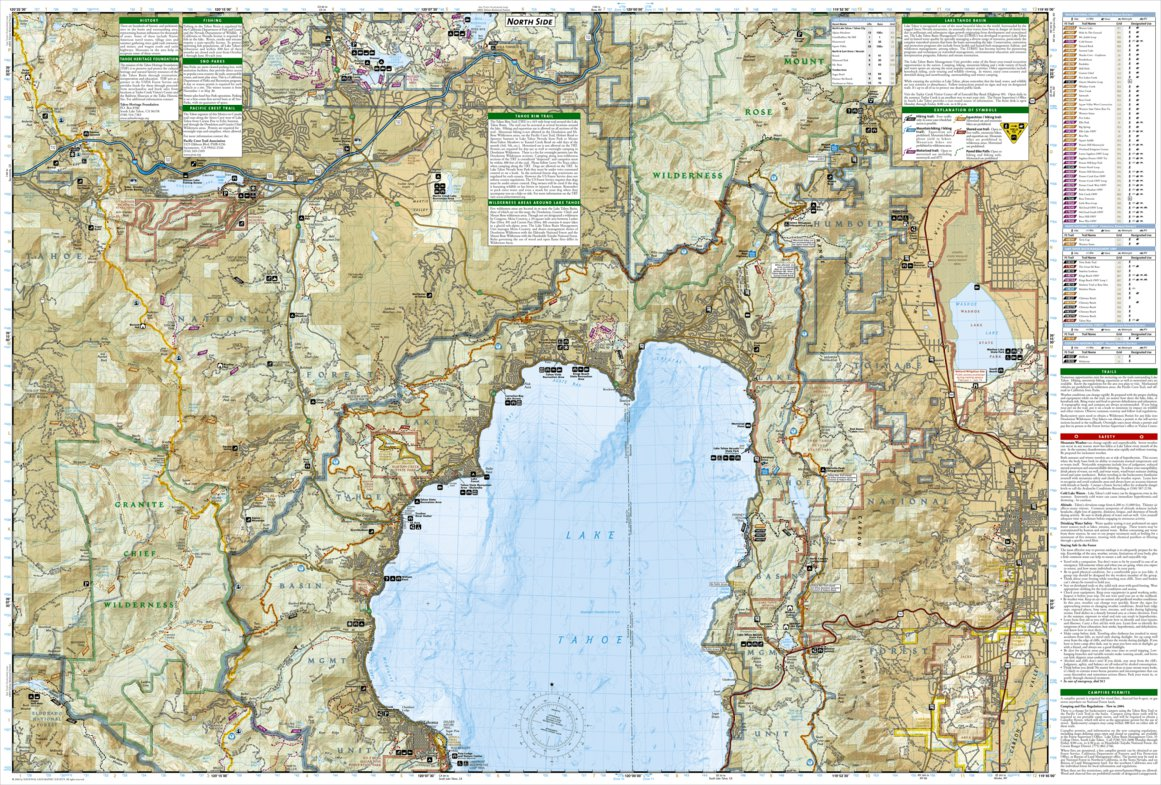 Tahoe [Map Pack Bundle] - National Geographic - Avenza Maps