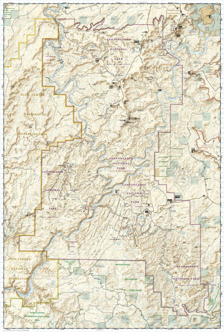 Utah National Parks Map Pack Bundle National Geographic - Utah national parks map
