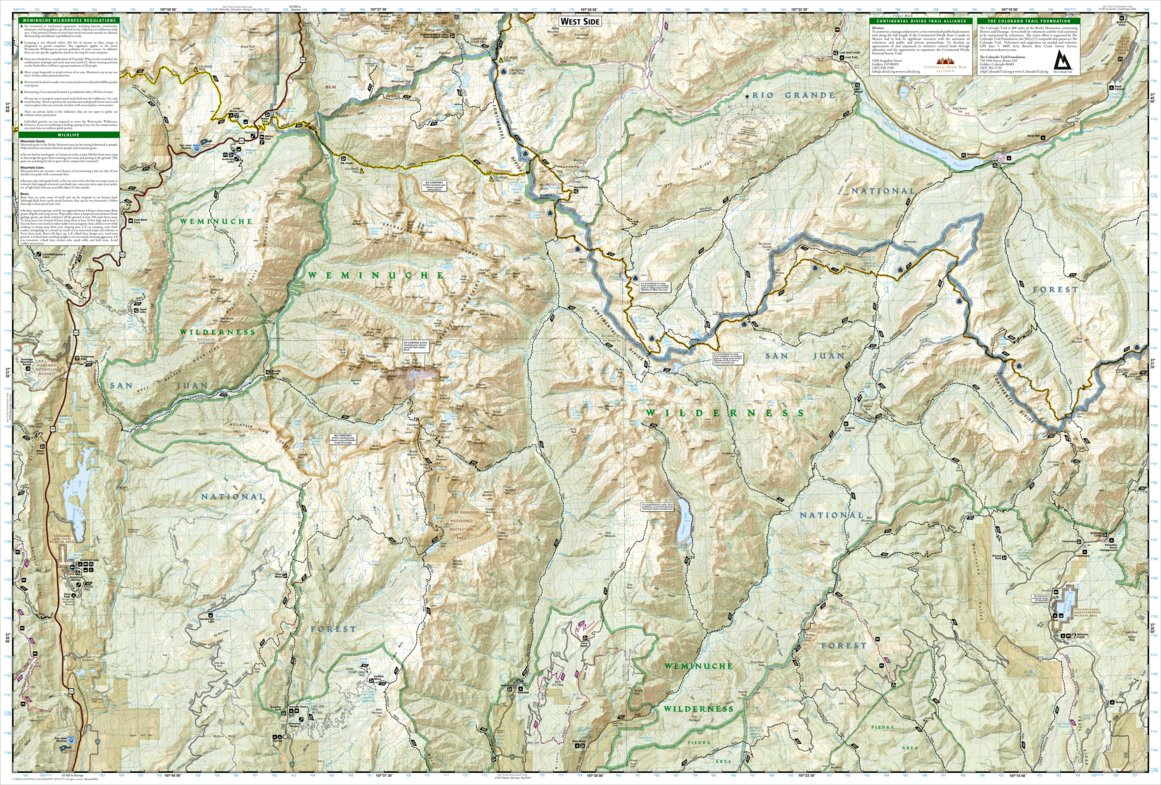 Weminuche Wilderness Map 140 :: Weminuche Wilderness   National Geographic   Avenza Maps