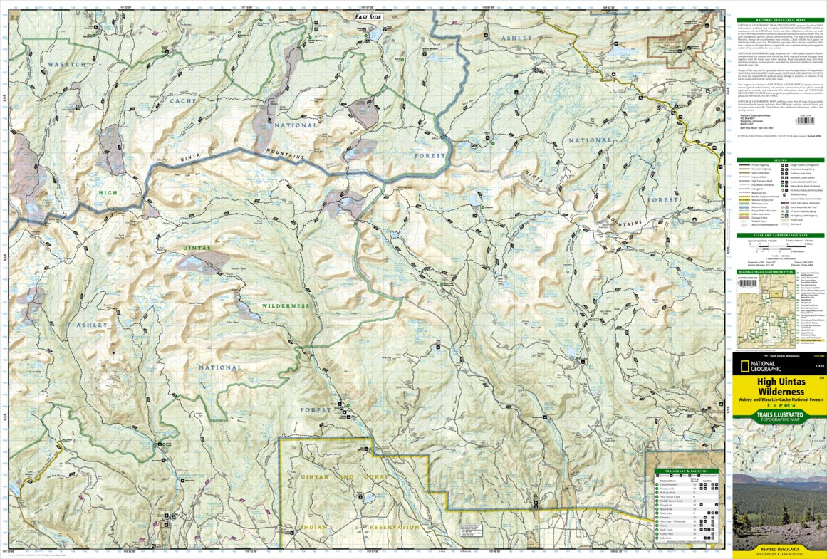 711 :: High Uintas Wilderness [Ashley and Wasatch-Cache ... Cache National Forest Map on uinta national forest map, fishlake national forest map, apache national forest map, utah dixie national forest map, se id national forest map, chattanooga national forest map, wayne national forest trail map, united states national forest map, oklahoma national forest map, roosevelt national forest trail map, caribou national forest map, shawnee national forest map,