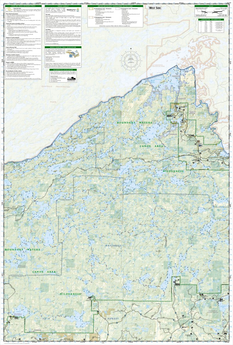 Boundary Waters Canoe Area Wilderness [Map Pack Bundle] - National ...