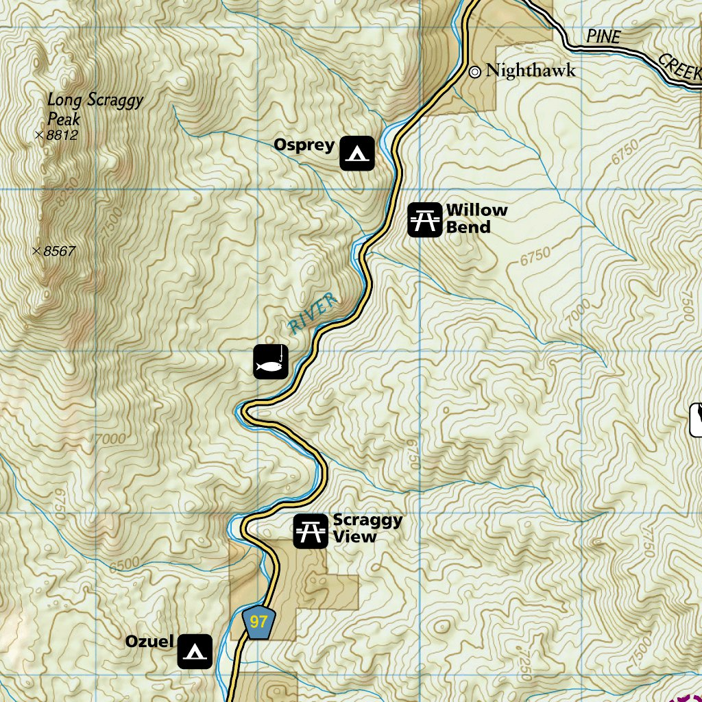 Deckers Colorado Map.135 Deckers Rampart Range National Geographic Avenza Maps