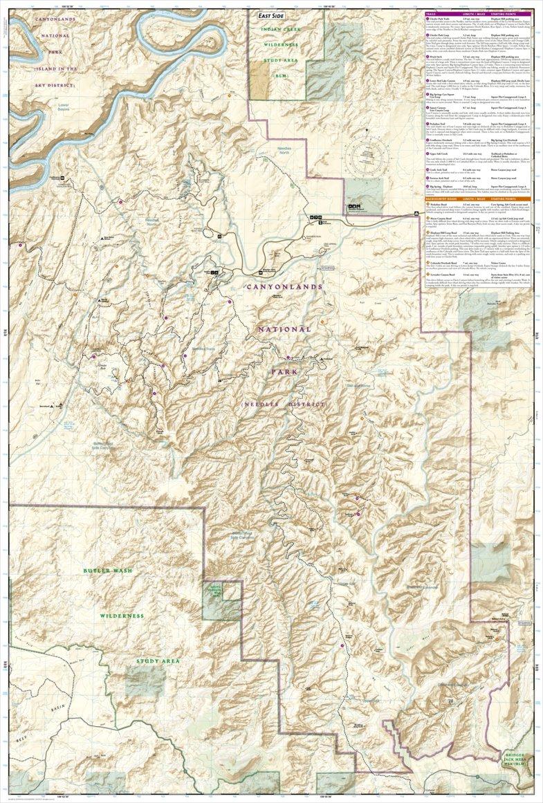 311 :: Needles District: Canyonlands National Park - National ... Canyonlands National Park Map on