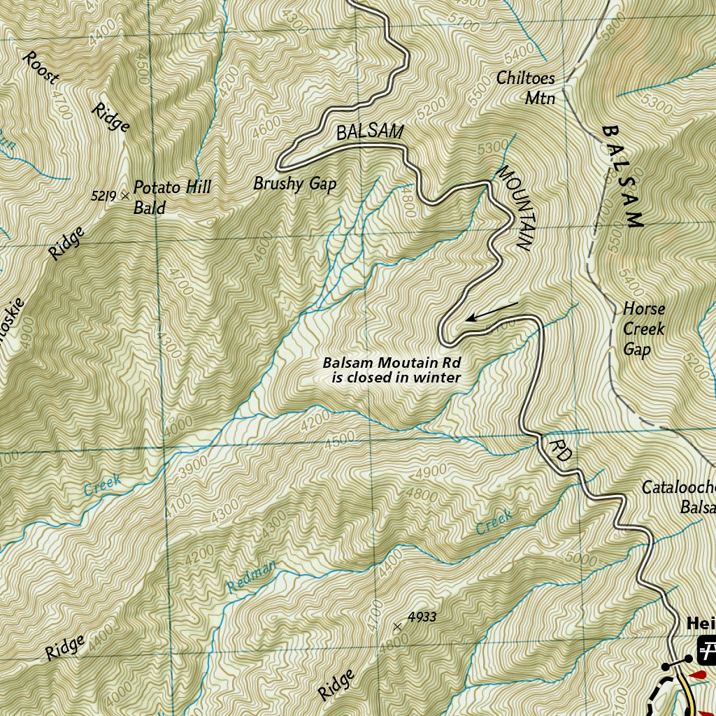 Clingmans Dome Map 317 :: Clingmans Dome, Cataloochee: Great Smoky Mountains National  Clingmans Dome Map