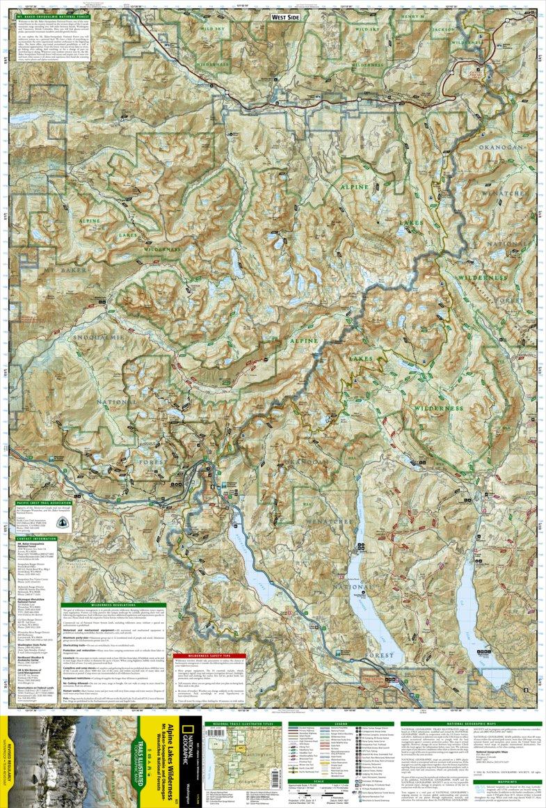 825 :: Alpine Lakes Wilderness [Mt. Baker-Snoqualmie and Okanogan ...