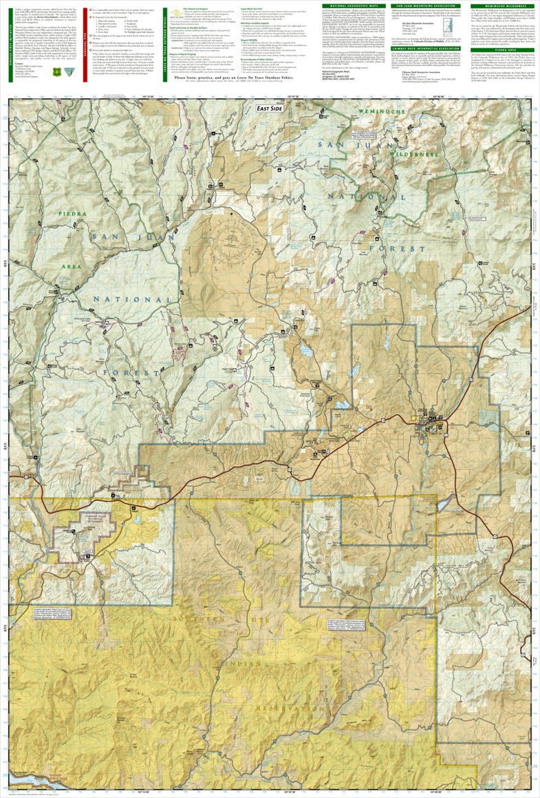 145 :: Pagosa Springs, Bayfield - National Geographic - Avenza Maps