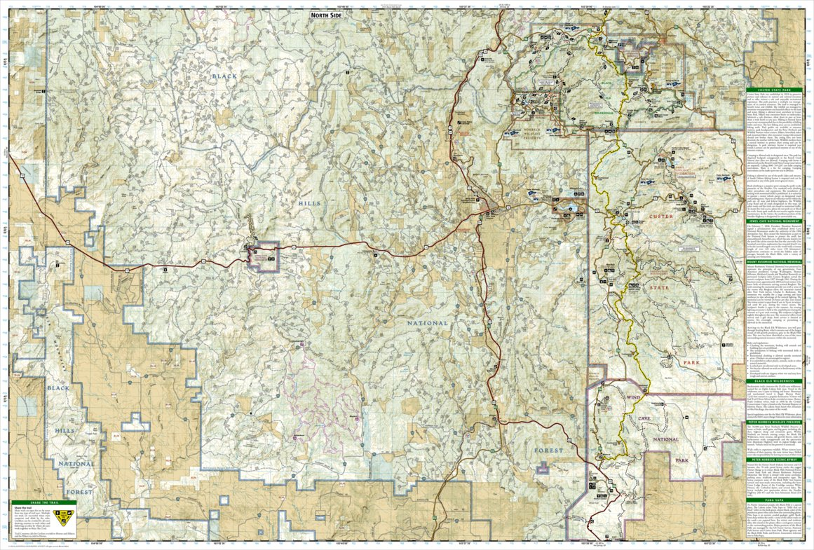 Black Hills National Forest [Map Pack Bundle] - National Geographic ...